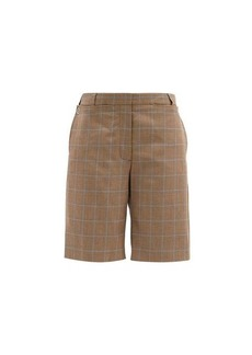Burberry Mae plaid tailored wool shorts