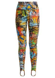 Burberry Mania graffiti-print stirrup-hem leggings
