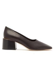 Burberry Margrette square-toe leather pumps