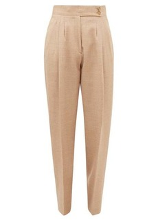 Burberry Marleigh pleated wool-blend trousers