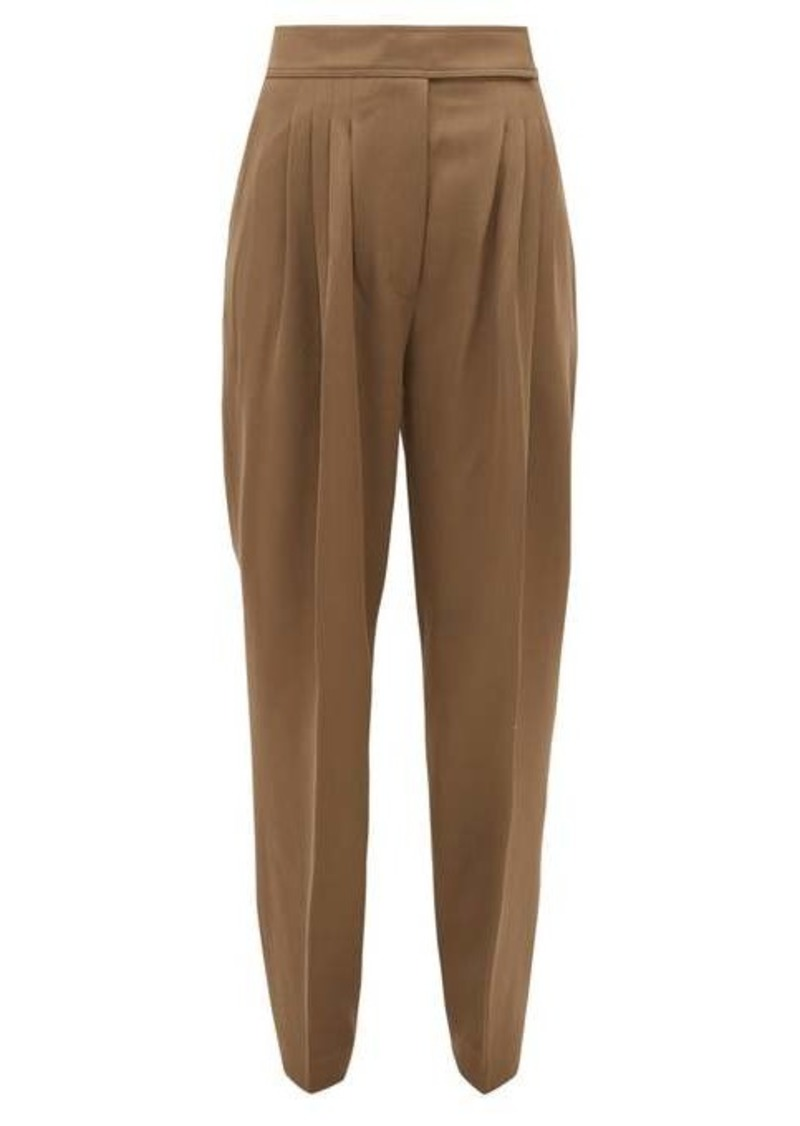 Burberry Marleigh triple-pleated virgin wool-twill trousers