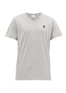 Burberry Marlet logo-embroidered cotton T-shirt