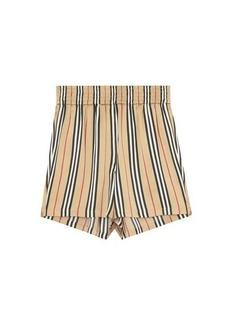 Burberry Marsett Icon-stripe silk-satin shorts