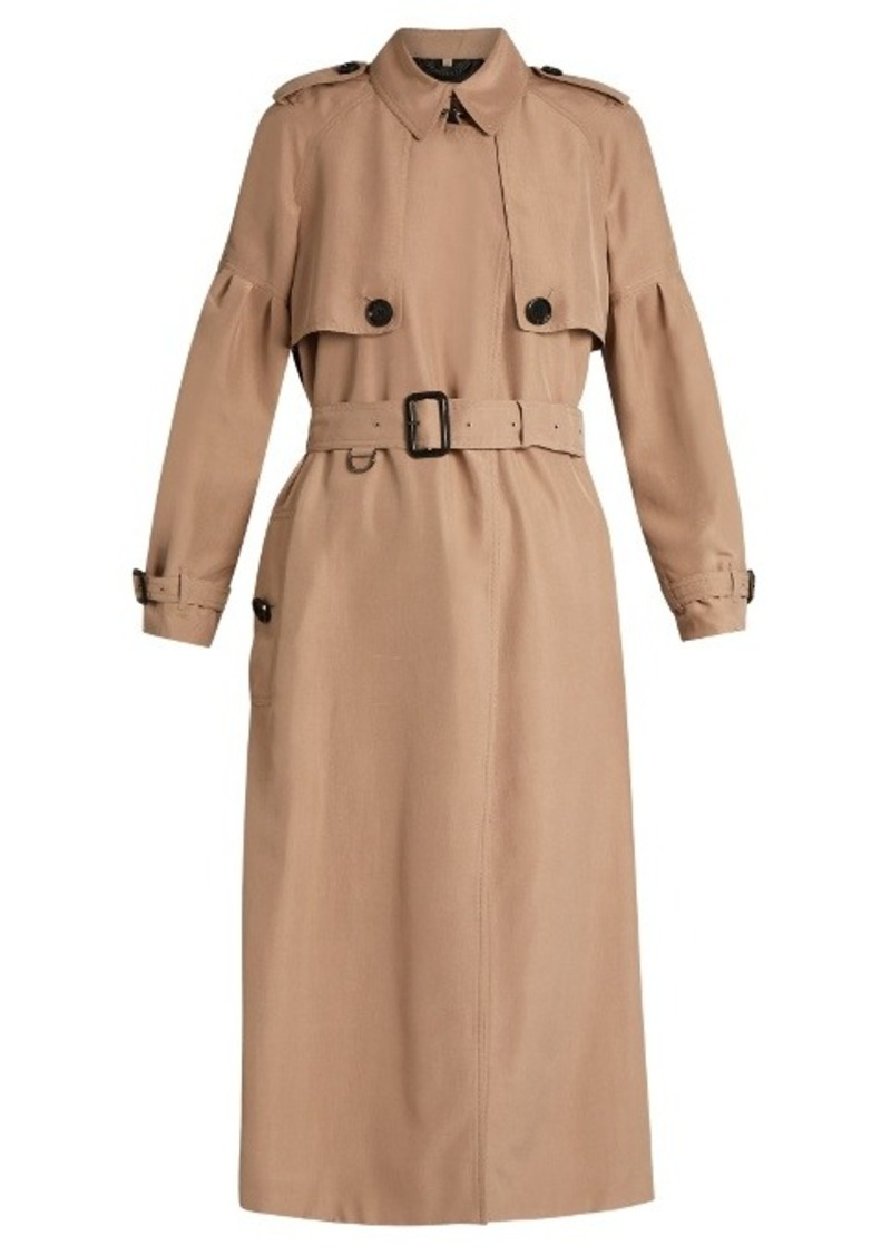 3e6b8a48a786 Burberry Burberry Maythorne mulberry-silk trench coat