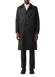 Burberry Men's Allover TB Nylon Car Coat