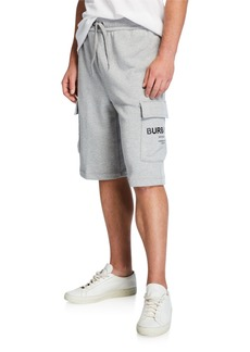 Burberry Men's Army Cargo Cotton Track Shorts