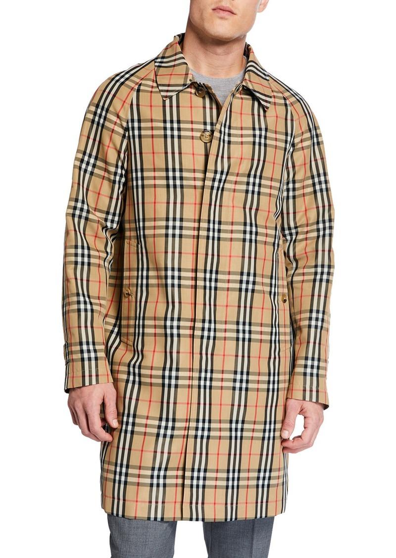 Burberry Men's Belmont Signature Check Rain Jacket