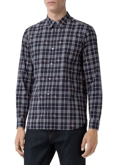 Burberry Men's Edward Check Sport Shirt