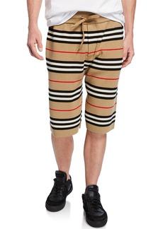 Burberry Men's Kentond Drawcord Striped Shorts