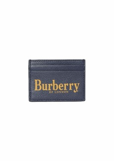 Burberry Men's Sandon Logo-Print Leather Card Case