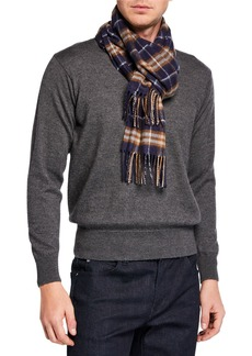 Burberry Men's Vintage Check Cashmere Scarf