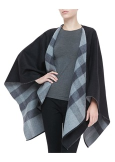 Burberry Merino Check Cape