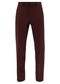 Burberry Mid-rise wool-blend trousers