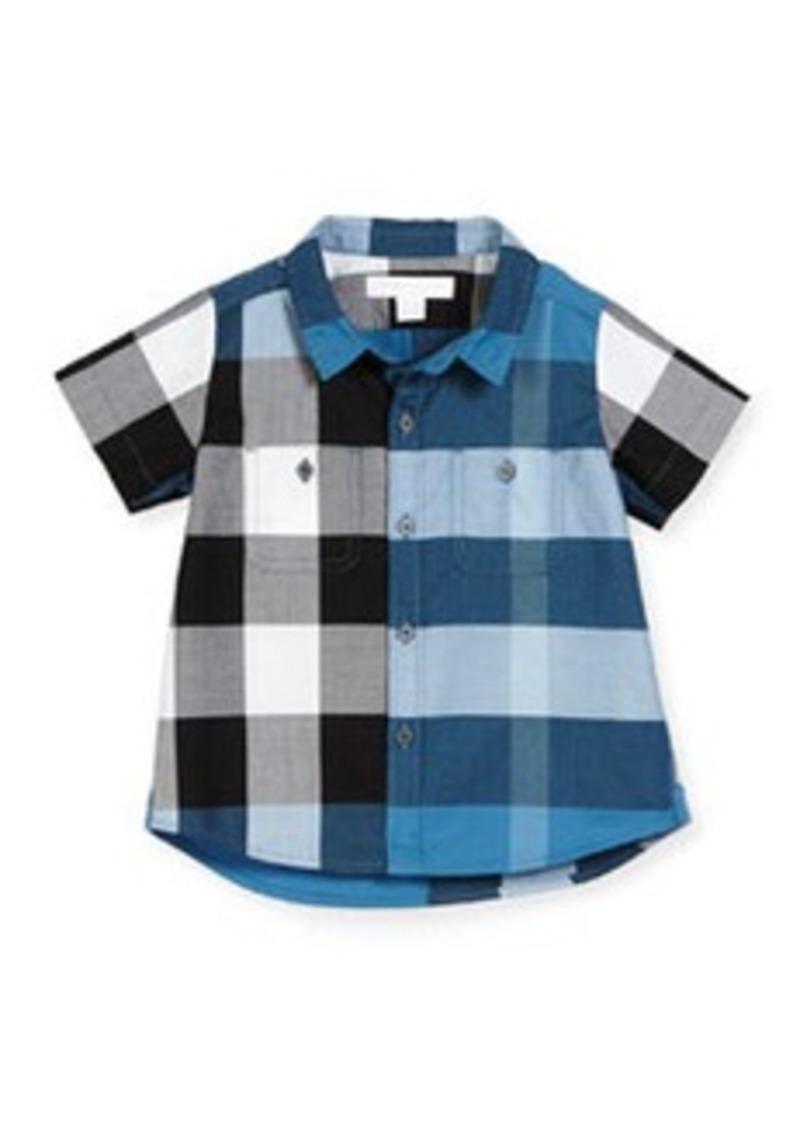 Burberry Mini Camber Short-Sleeve Check Shirt