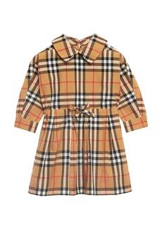 Burberry Mini Crissida Long-Sleeve Check Dress  Size 6 Months-3