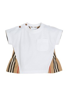Burberry Mini Delilah Jersey Top with Icon Stripe Flyaway Back  Size 6M-2