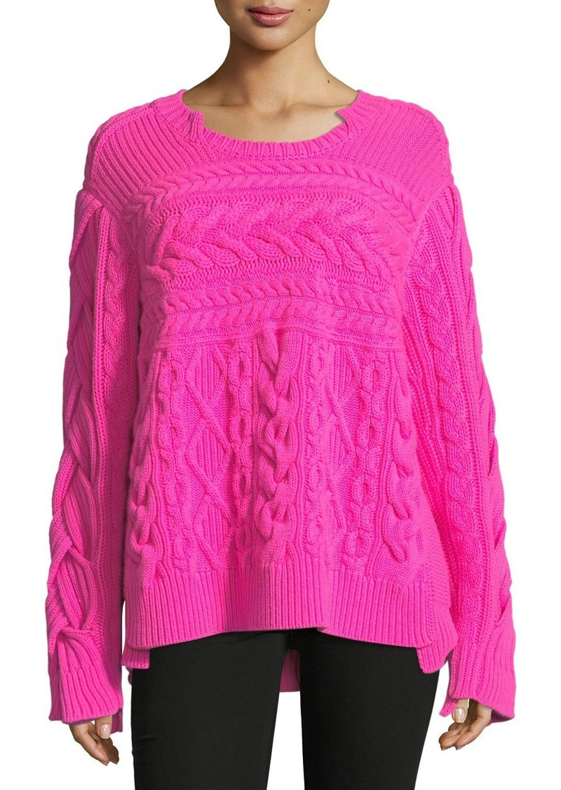 8cb16da0eb68a0 Burberry Mixed Cable-Knit Sweater