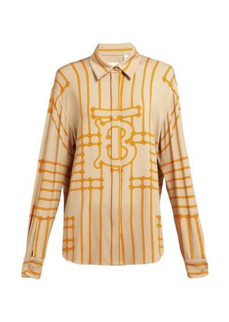 Burberry Monogram-print silk-blend shirt