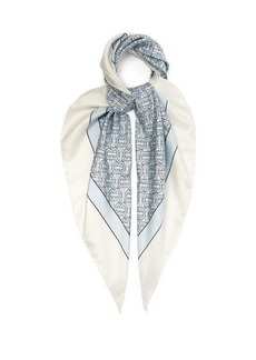 Burberry Monogram-print silk-faille scarf