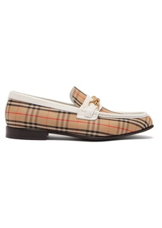 Burberry Moorely Dalston vintage check canvas loafers