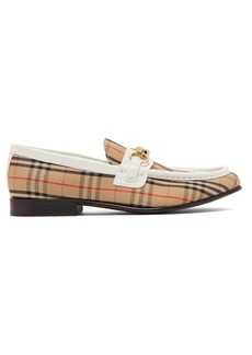 Burberry Moorley checked loafers