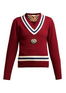 Burberry Morice Knight-appliqué wool-blend sweater