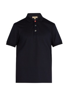 Burberry Multicoloured-button cotton-piqué polo shirt