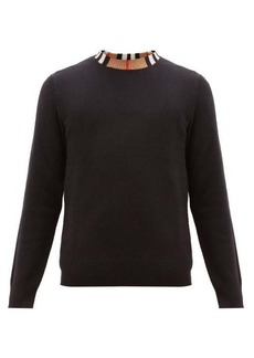 Burberry Noland House-check collar cashmere sweater