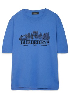 Burberry Oversized embroidered cotton-jersey T-shirt