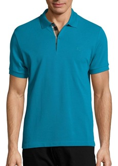 Burberry Oxford Short Sleeve Cotton Pique Polo