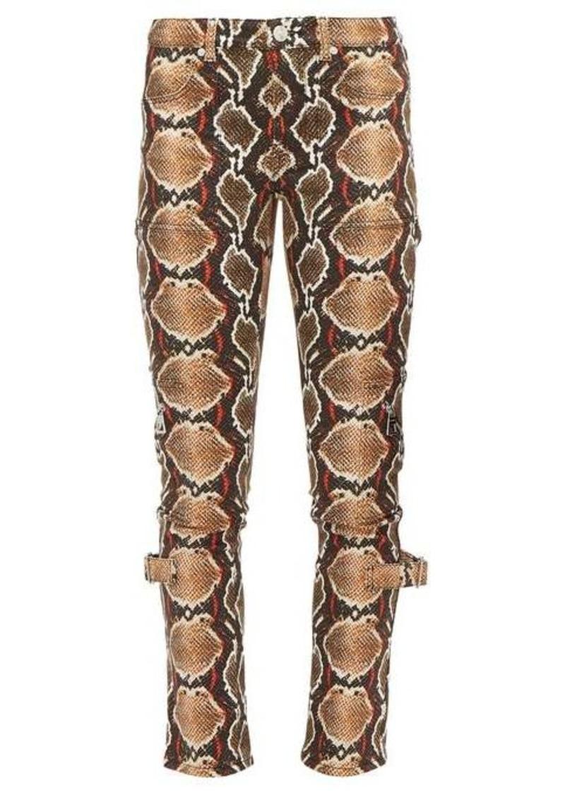 Burberry Ozie python-print skinny jeans