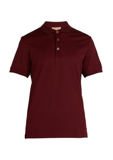 Burberry Painted-button Oxford cotton-piqué polo shirt