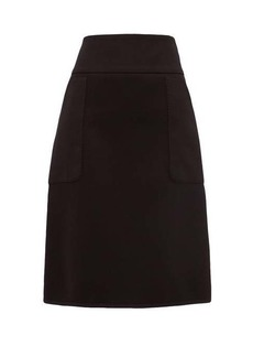 Burberry Panelled neoprene midi skirt