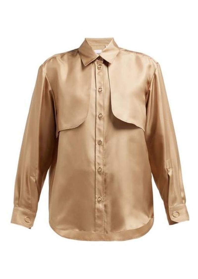Burberry Panelled silk-faille blouse