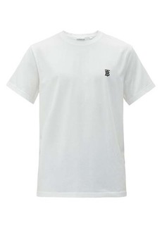 Burberry Parker logo-embroidered cotton-blend T-shirt