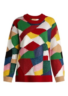 Burberry Patchwork cashmere and wool-blend sweater