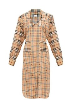 Burberry Patchwork House-check silk shirtdress