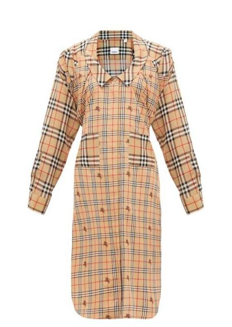 Burberry Patchwork House-check silk shirtdress