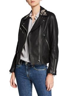 Burberry Peebles Embellished Leather Jacket