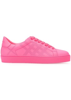 Burberry perforated check sneakers - Pink & Purple