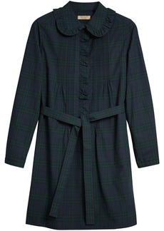 Burberry pintuck tartan tunic dress - Blue