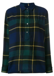 Burberry tartan wool flannel tunic shirt - Blue