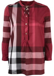 Burberry plaid tunic blouse - Red