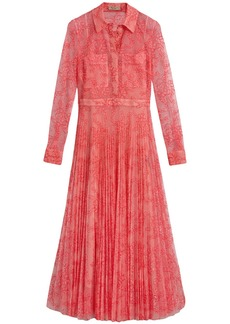 Burberry pleated lace dress - Pink & Purple