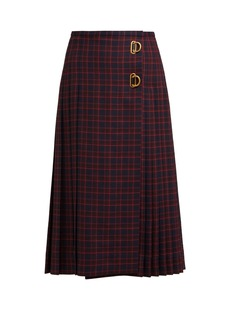 Burberry Pleated tartan wool skirt