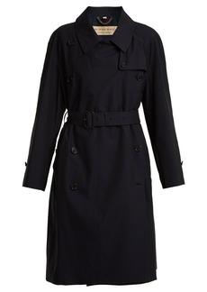 Burberry Point collar cotton-gabardine trench coat