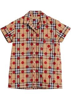 Burberry polka dot check shirt - Nude & Neutrals