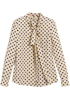 Burberry polka dot pussybow blouse - Nude & Neutrals