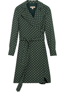 Burberry polka-dot wrap dress - Green