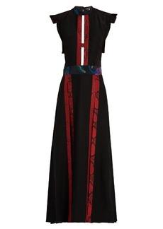 Burberry Prorsum Contrast-panel open-back dress